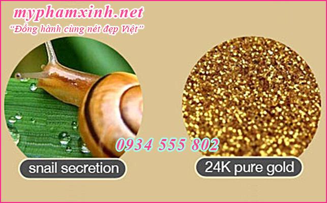 Kem dưỡng trắng da ốc sên vàng 24K Gold Snail Cream