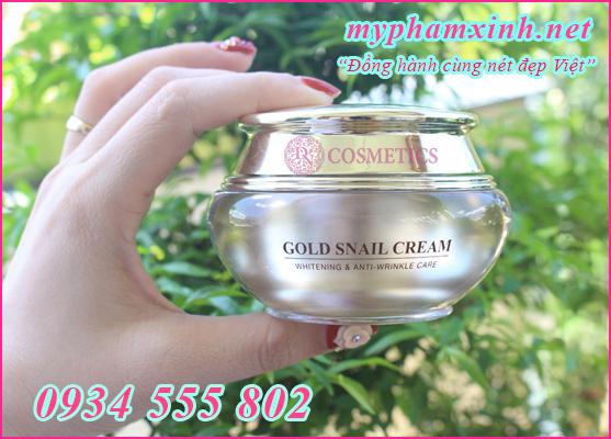 Bạn có thể sử dụng kem Gold Snail cả sáng và tối giúp bảo vệ da (ban ngày) và tái tạo (ban đêm) tốt nhất.
