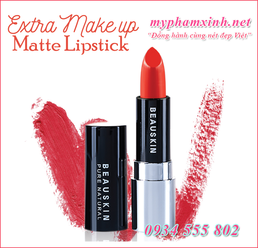 Son Beauskin Extra Makeup Matte Lipstick B - 01 - Darling Orange