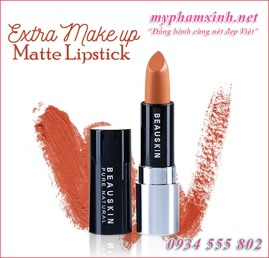 Son Beauskin Extra Makeup Matte Lipstick B - 04 - Smoke Brown