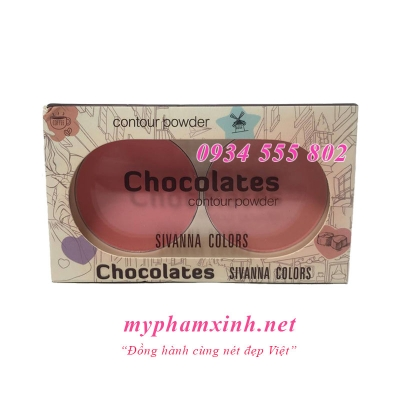 PHẤN MÁ HỒNG SIVANNA COLORS CHOCOLATES