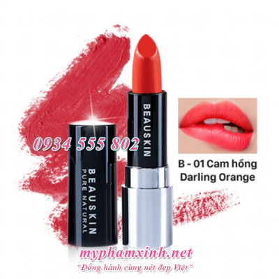 Son Beauskin Extra Makeup Matte Lipstick B - 01 - Darling Orange
