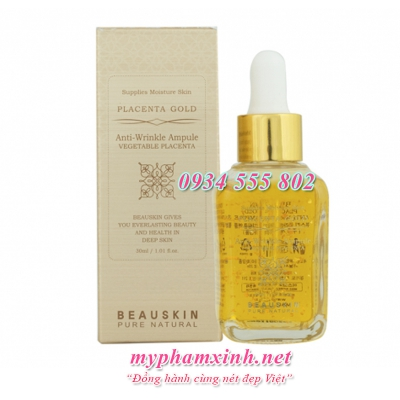 Tinh Chất Chống Nhăn Beauskin Anti-Wrinkle Ampoule Placenta Gold