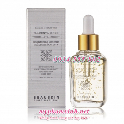 Tinh Chất Trắng Da Beauskin Placenta Gold Brightening Ampoule